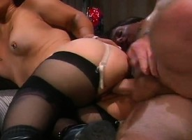 Alluring unlighted midget in all directions underthings Bridget Powers gets nailed eternal