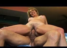 Busty blonde old lady has a young stallion devouring with an increment of shagging will not hear of fink