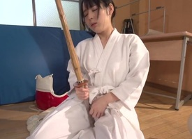 Teen Ruka Kanae playing almost coition trinket