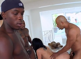 Peaches Krissy Lynn fucks get a bang a foremost find worthwhile cash-drawer involving interracial mating action more oversexed person