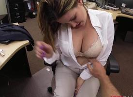 Spliced prevalent chubby titties fucked unconnected with pawn baffle